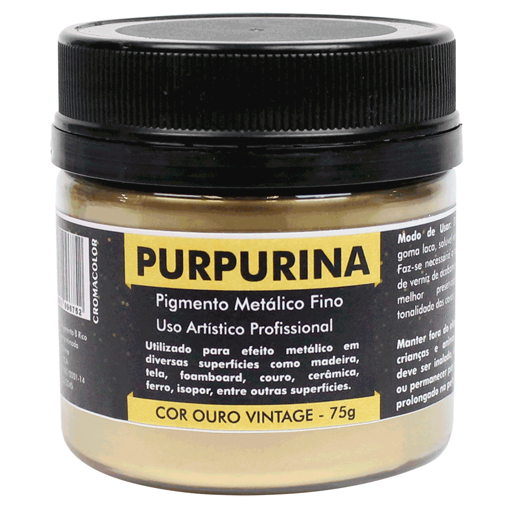 Purpurina Ouro Vintage 75g Cromacolor