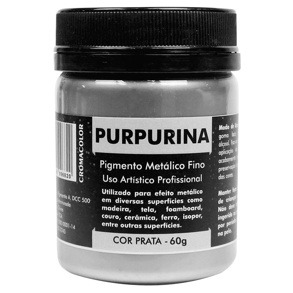 Purpurina Prata 60g Cromacolor