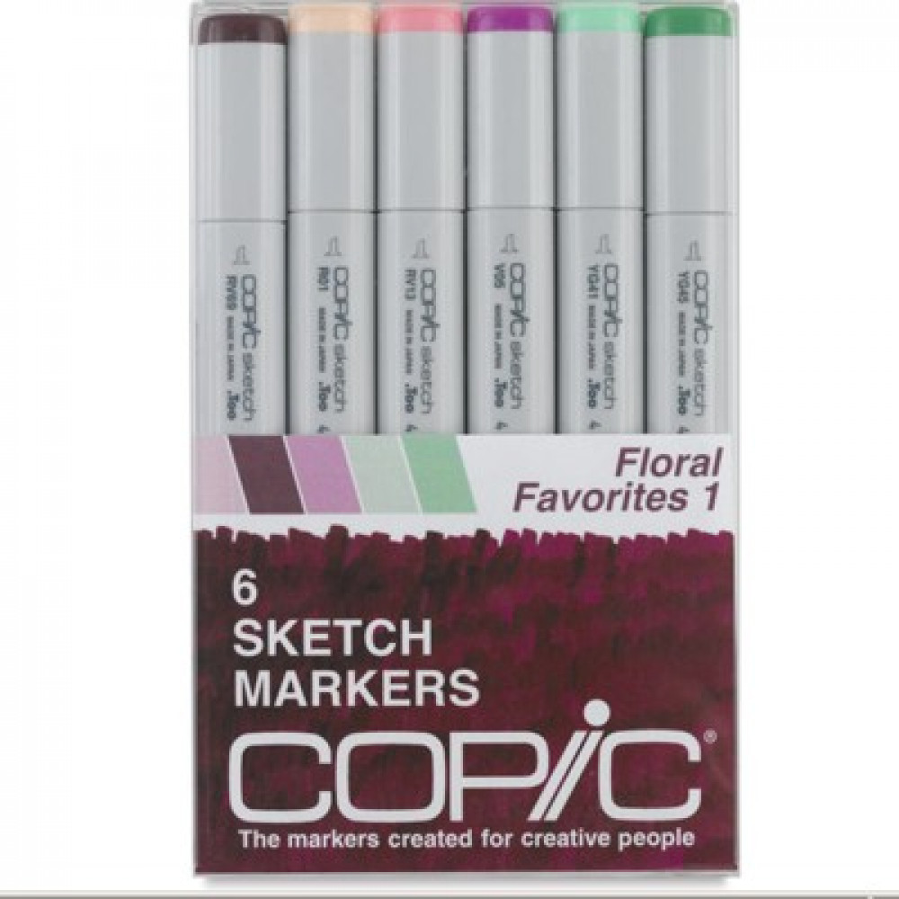 Copic Markers Floral Favorites 1 com 06