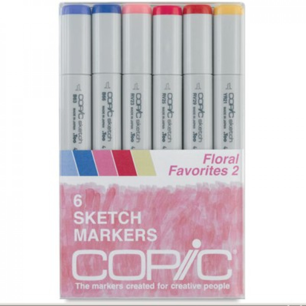 Copic Markers Floral Favorites 2 com 06