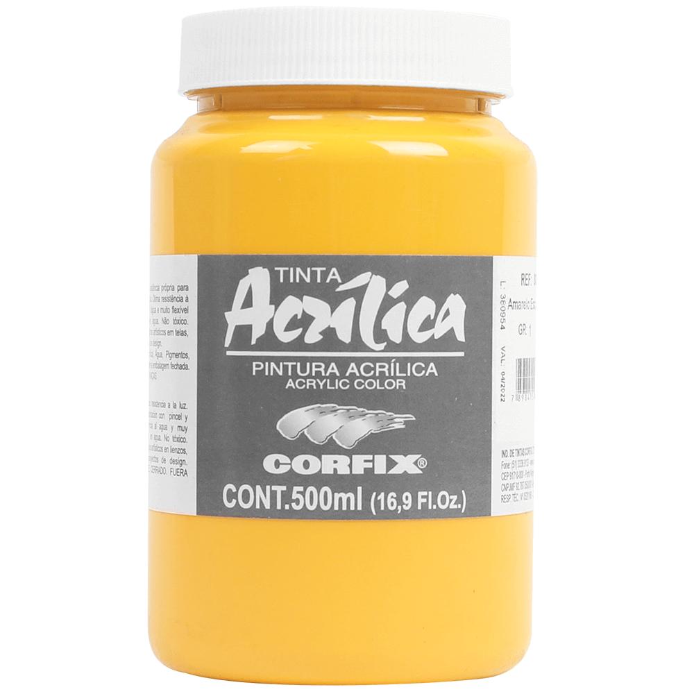 Tinta Acrílica Corfix 500ml 051 Amarelo Escuro
