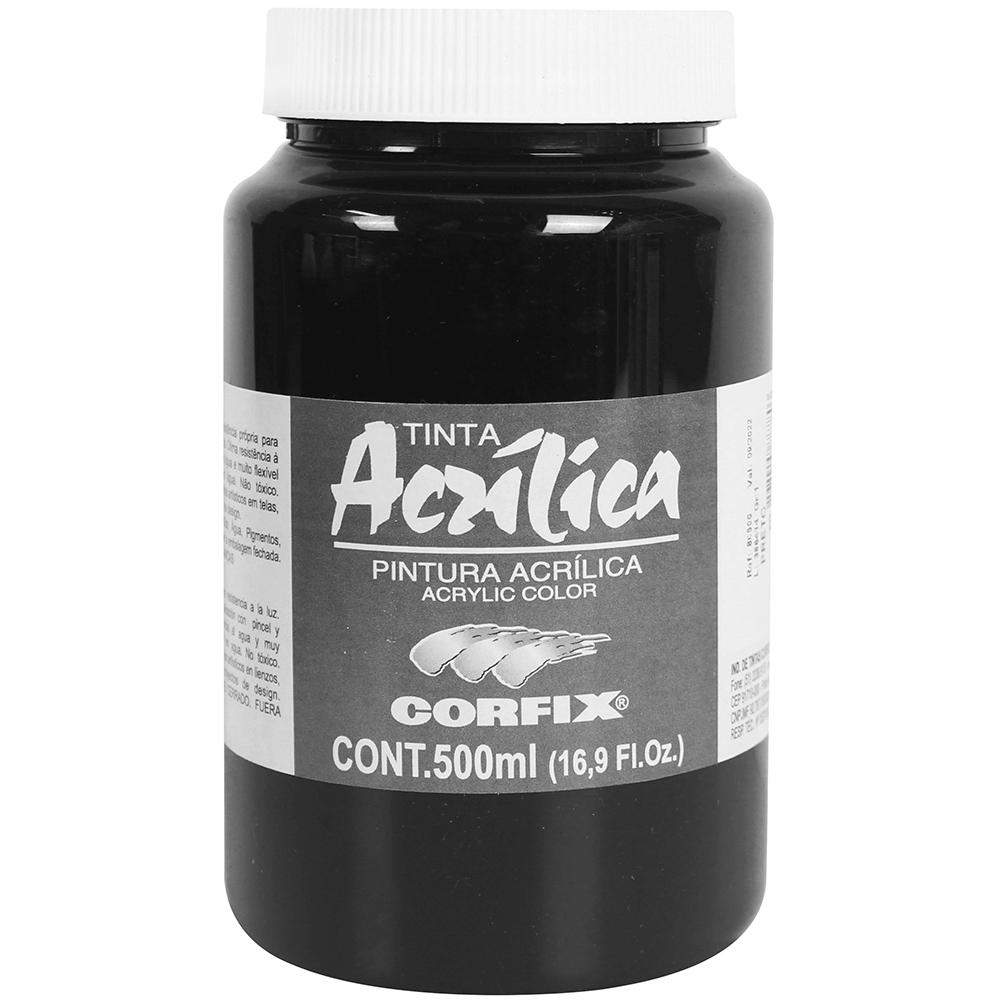 Tinta Acrílica Corfix 500ml 065 Preto