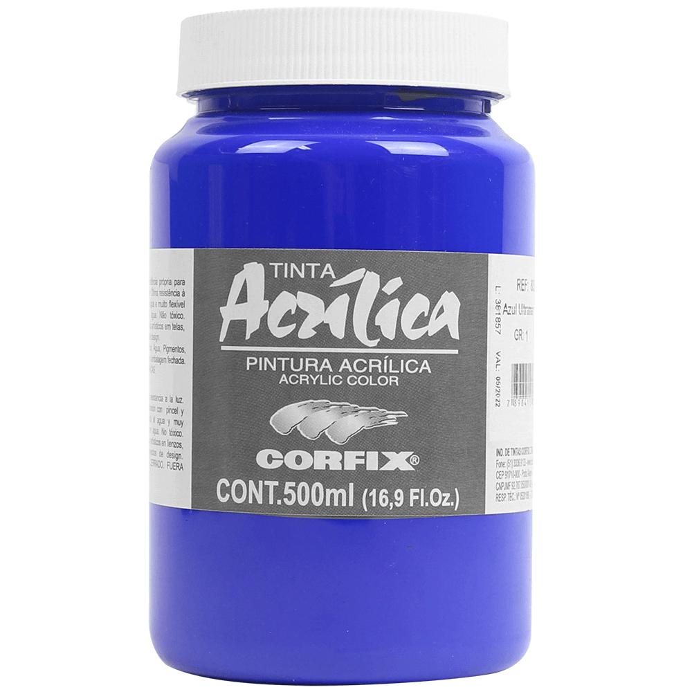Tinta Acrílica Corfix 500ml 068 Azul Ultramar