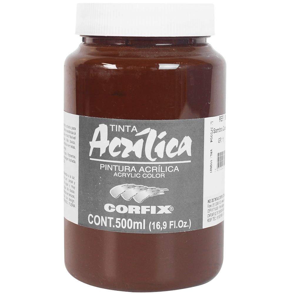 Tinta Acrílica Corfix 500ml 083 Sombra Queimada