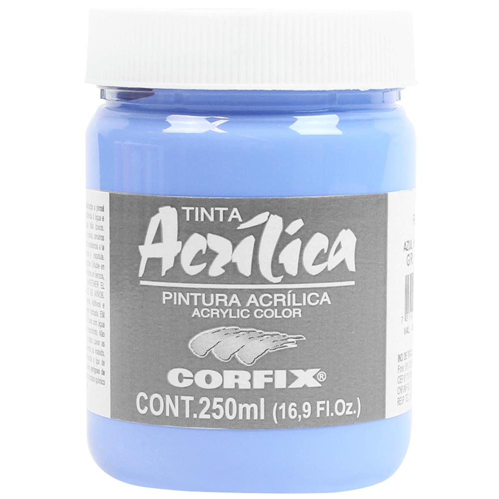 Tinta Acrílica Corfix 250ml 108 Azul Hortênsia G1