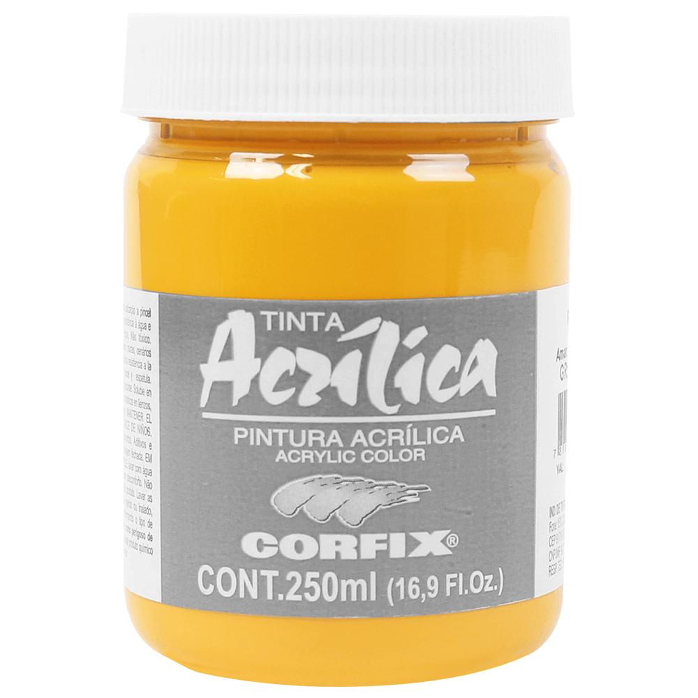 Tinta Acrílica Corfix 250ml 124 Amarelo Cad Escuro G1