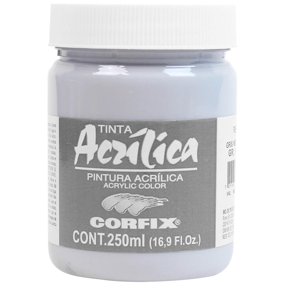 Tinta Acrílica Corfix 250ml 131 Gris Neutro G1