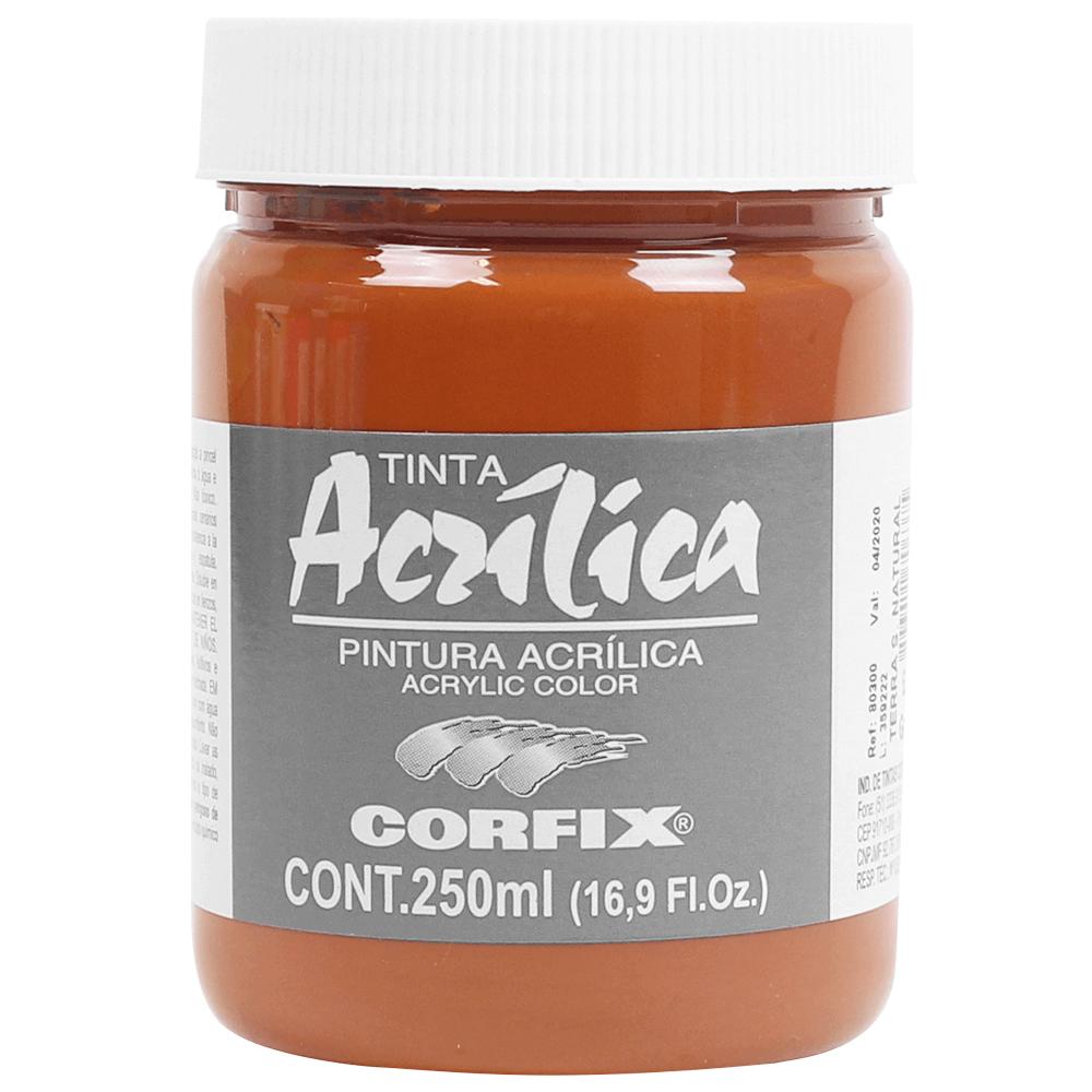 Tinta Acrílica Corfix 250ml 62 Terra Siena Natural G1