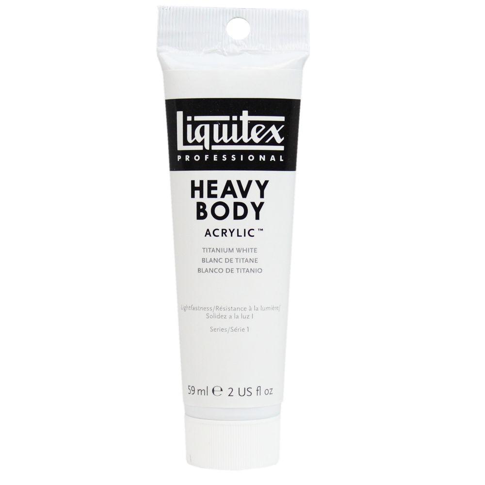 Tinta Acrílica Liquitex Heavy Body 59ml S1 432 Titanium White