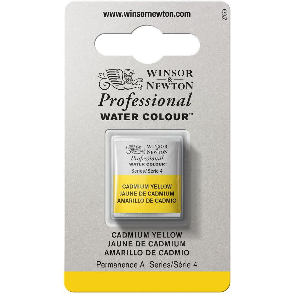Tinta Aquarela Winsor & Newton Profissional Pastilha S4 108 Cadmium Yellow