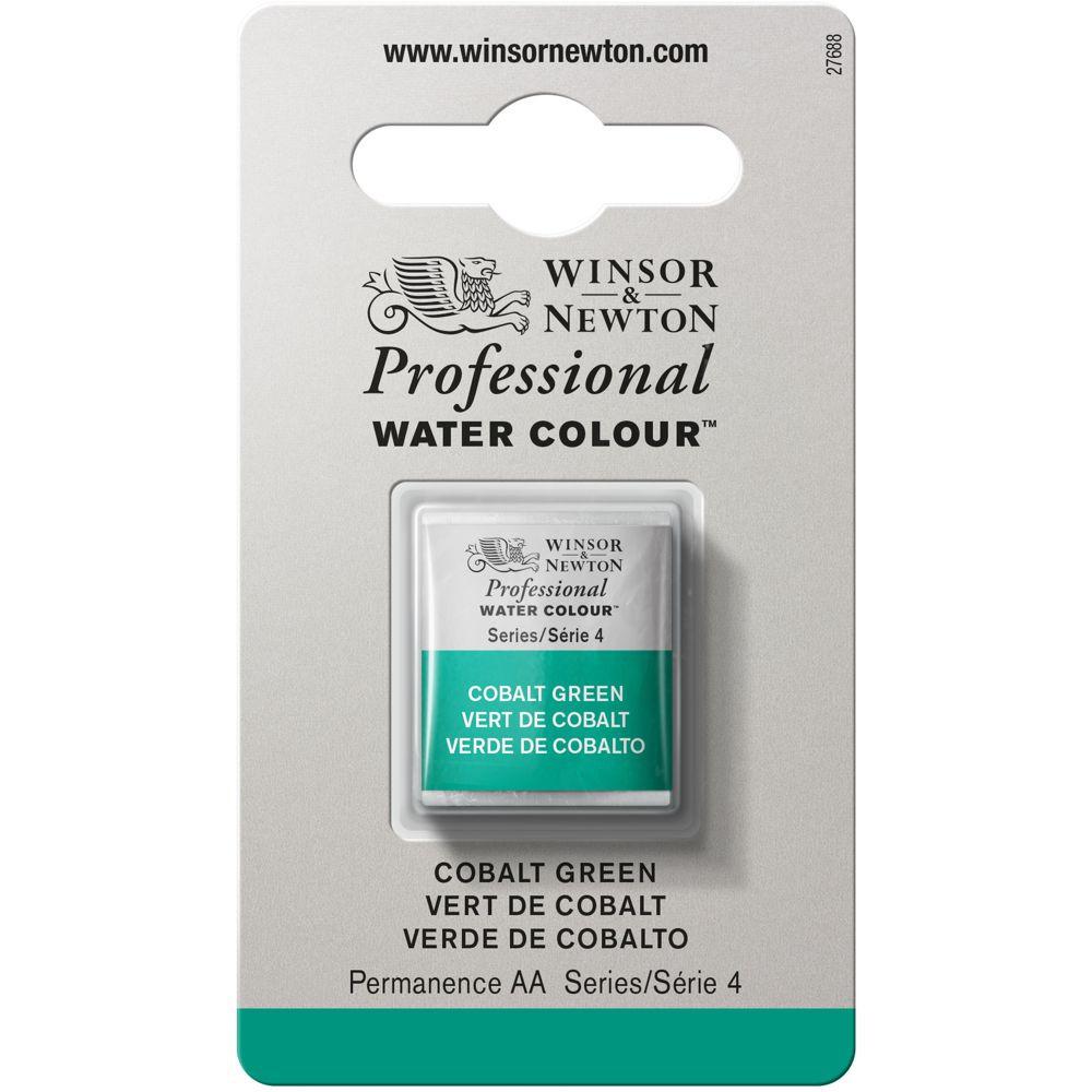 Tinta Aquarela Winsor & Newton Profissional Pastilha S4 184 Cobalt Green