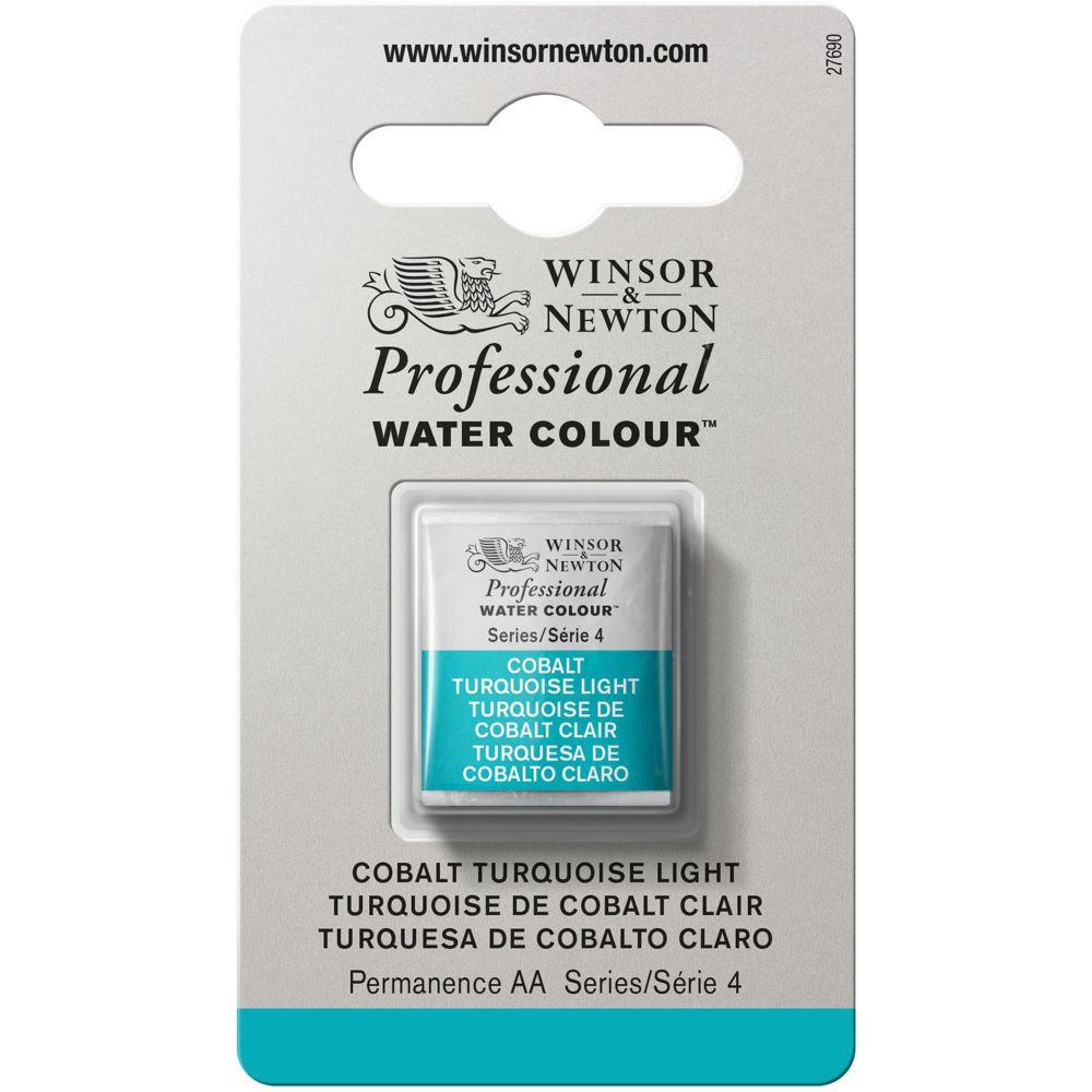 Tinta Aquarela Winsor & Newton Profissional Pastilha S4 191 Cobalt Turquoise Light