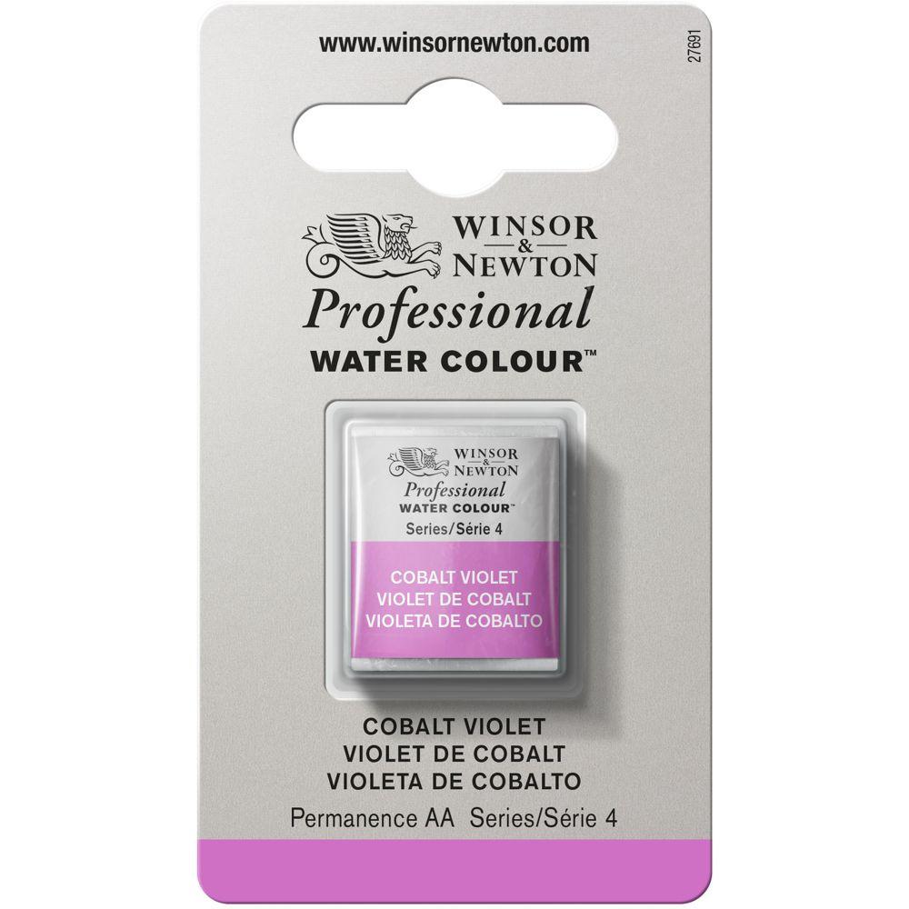 Tinta Aquarela Winsor & Newton Profissional Pastilha S4 192 Cobalt Violet
