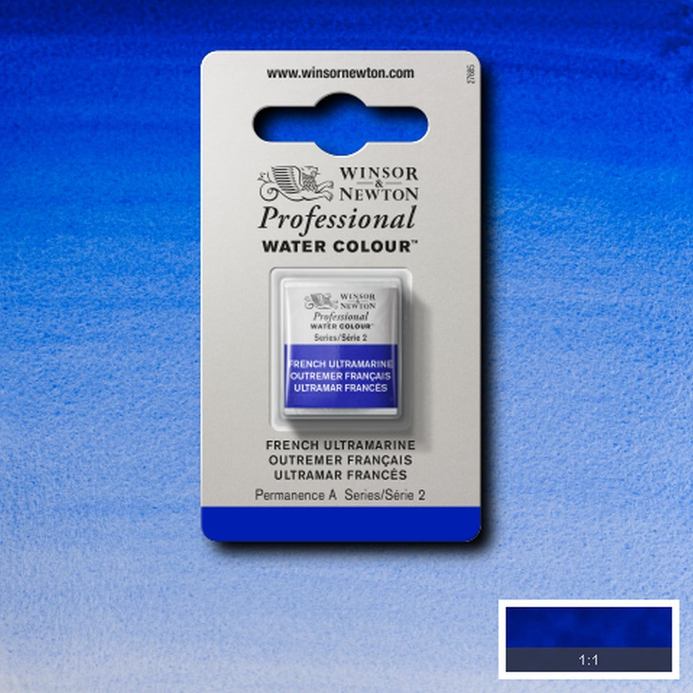 Tinta Aquarela Winsor & Newton Profissional Pastilha S2 263 French Ultramarine
