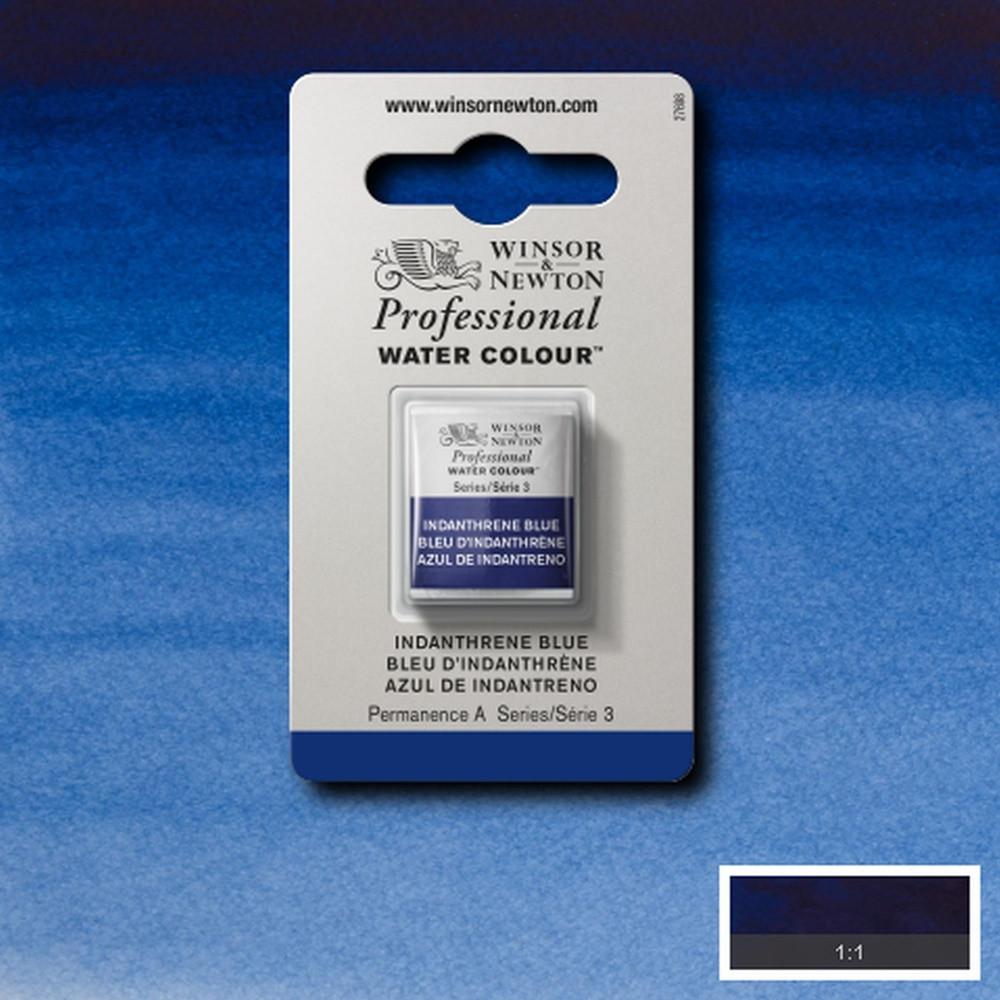 Tinta Aquarela Winsor & Newton Profissional Pastilha S3 321 Indanthrene Blue