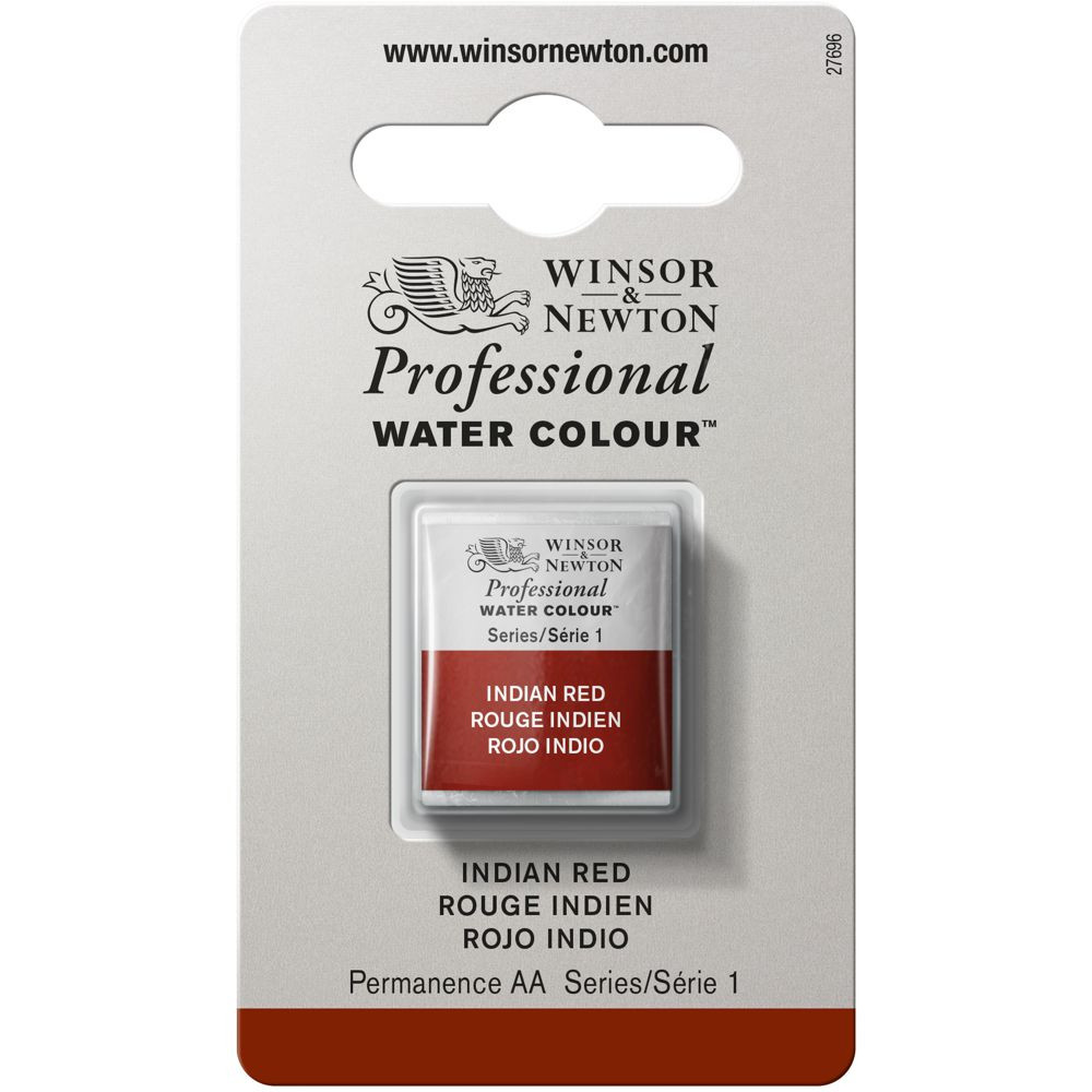 Tinta Aquarela Winsor & Newton Profissional Pastilha S1 317 Indian Red