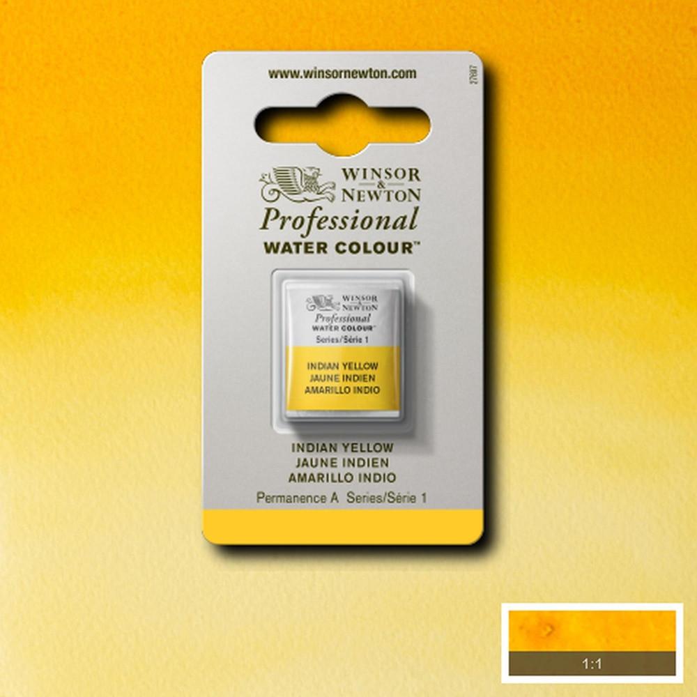 Tinta Aquarela Winsor & Newton Profissional Pastilha S1 319 Indian Yellow
