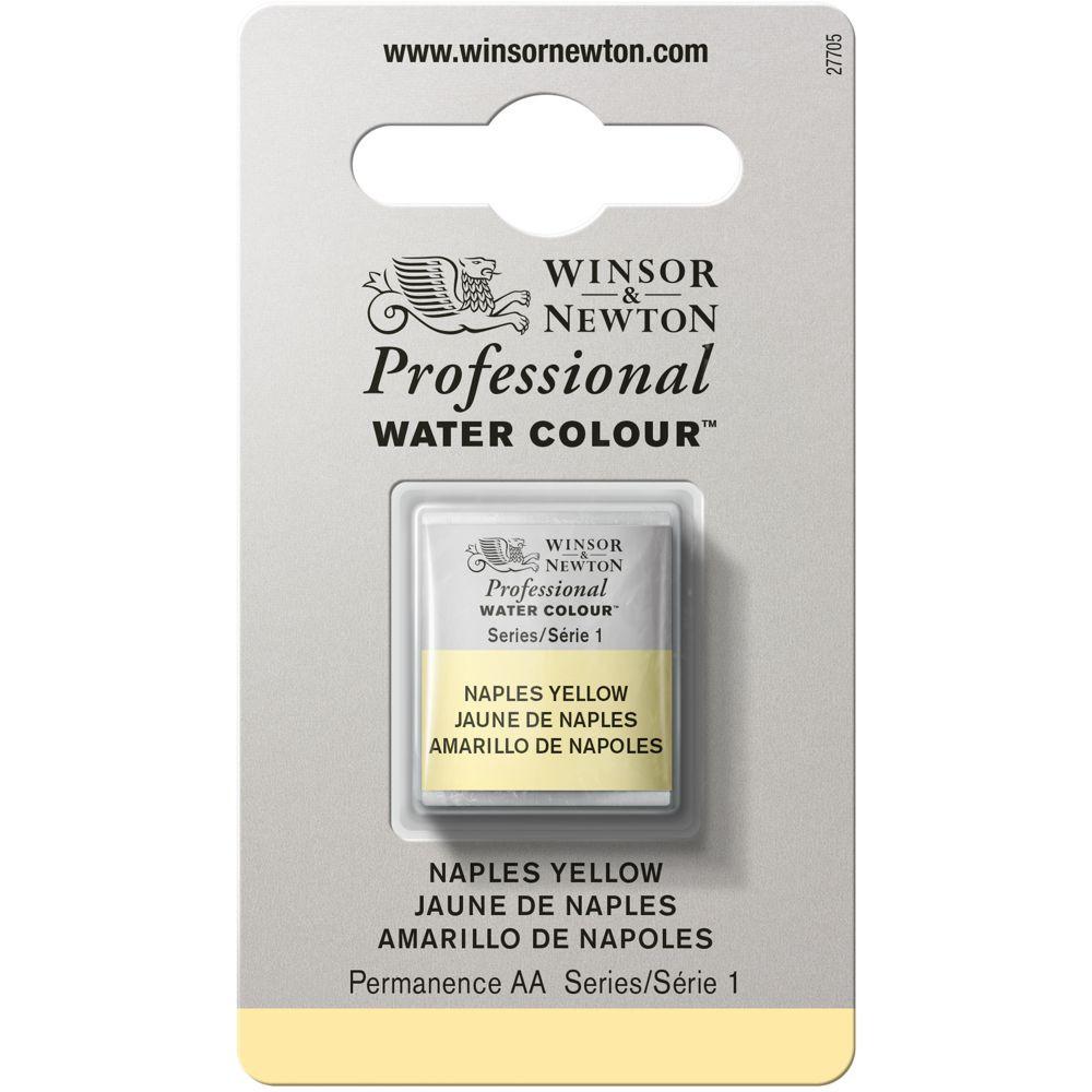 Tinta Aquarela Winsor & Newton Profissional Pastilha S1 422 Naples Yellow