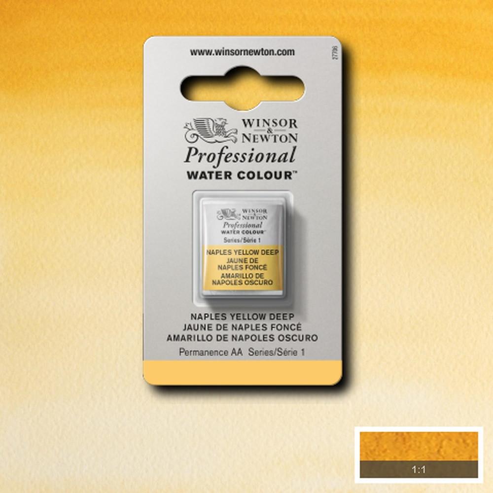 Tinta Aquarela Winsor & Newton Profissional Pastilha S1 425 Naples Yellow Deep