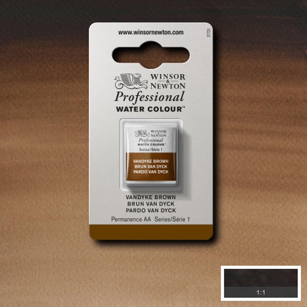 Tinta Aquarela Winsor & Newton Profissional Pastilha S1 676 Vandyke Brown