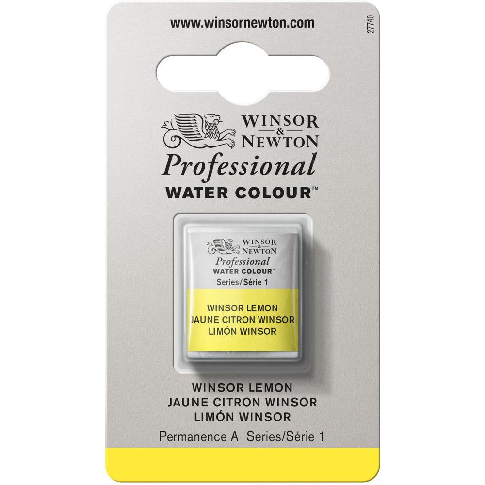 Tinta Aquarela Winsor & Newton Profissional Pastilha S1 722 Winsor Lemon