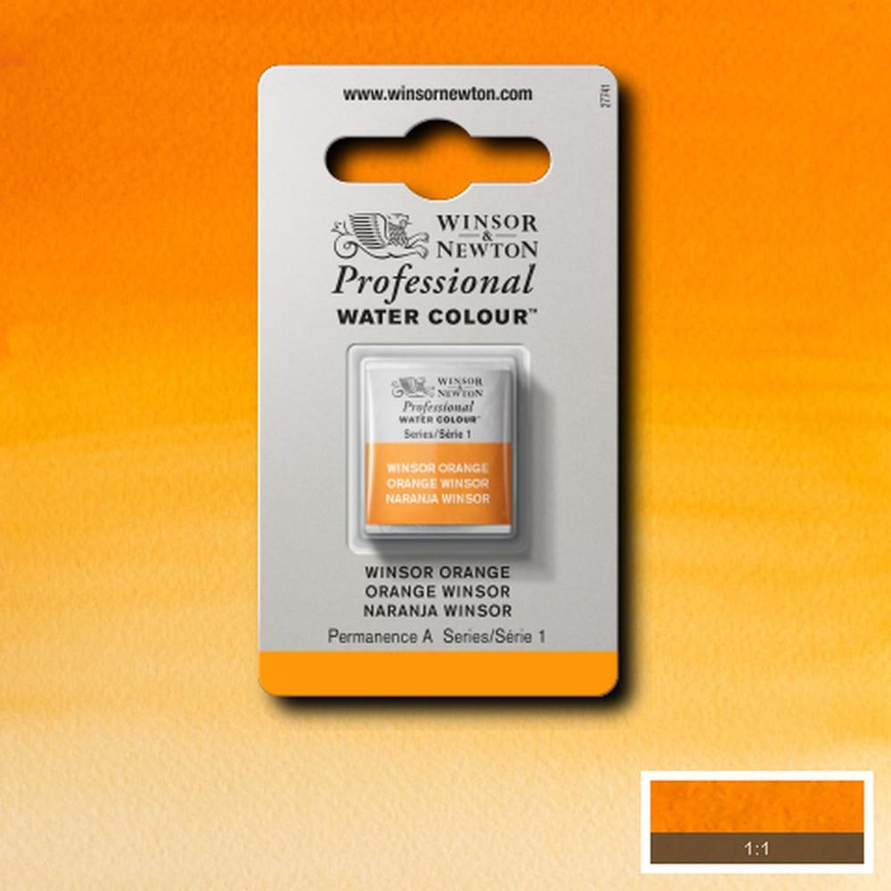 Tinta Aquarela Winsor & Newton Profissional Pastilha S1 724 Winsor Orange