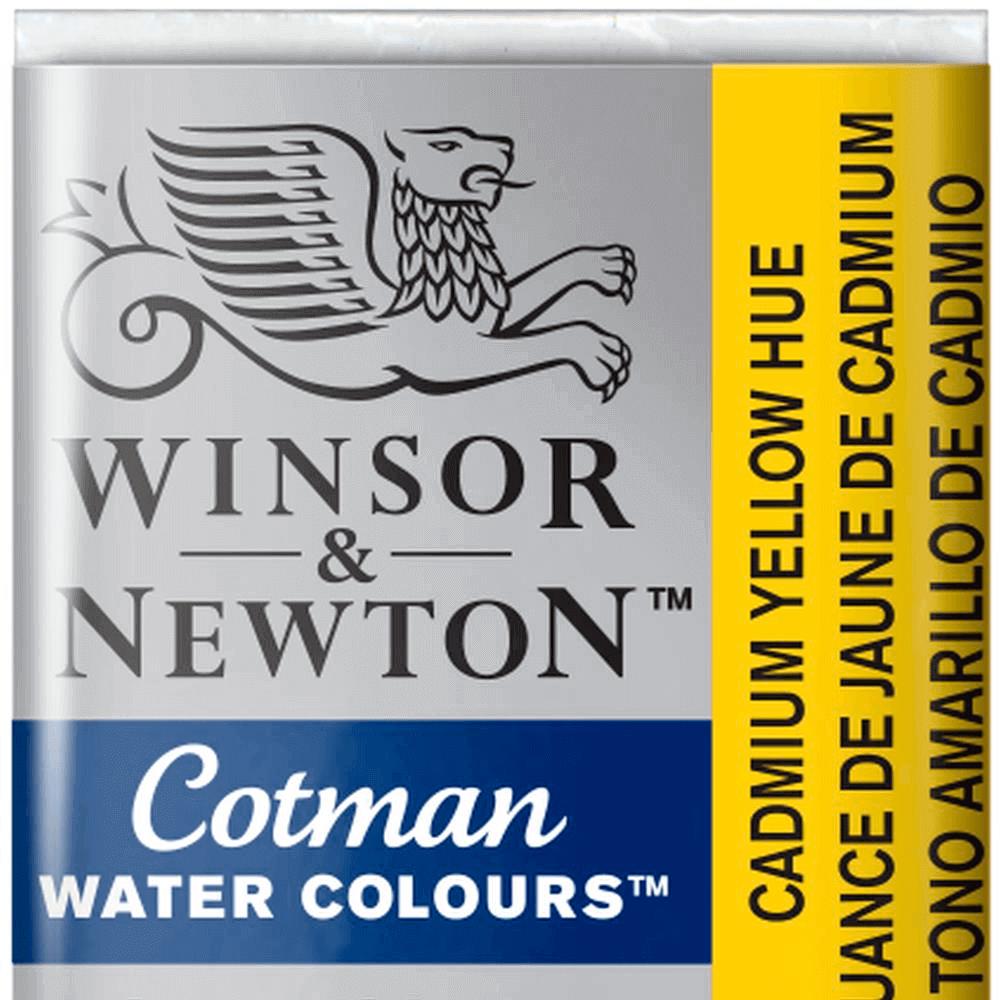Aquarela Winsor & Newton Cotman Pastilha 109 Cadmium Yellow Hue