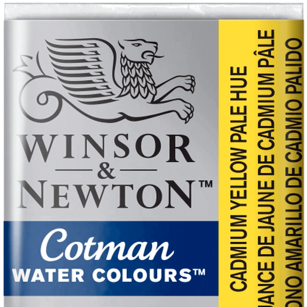 Aquarela Winsor & Newton Cotman Pastilha 119 Cadmium Yellow Pale Hue