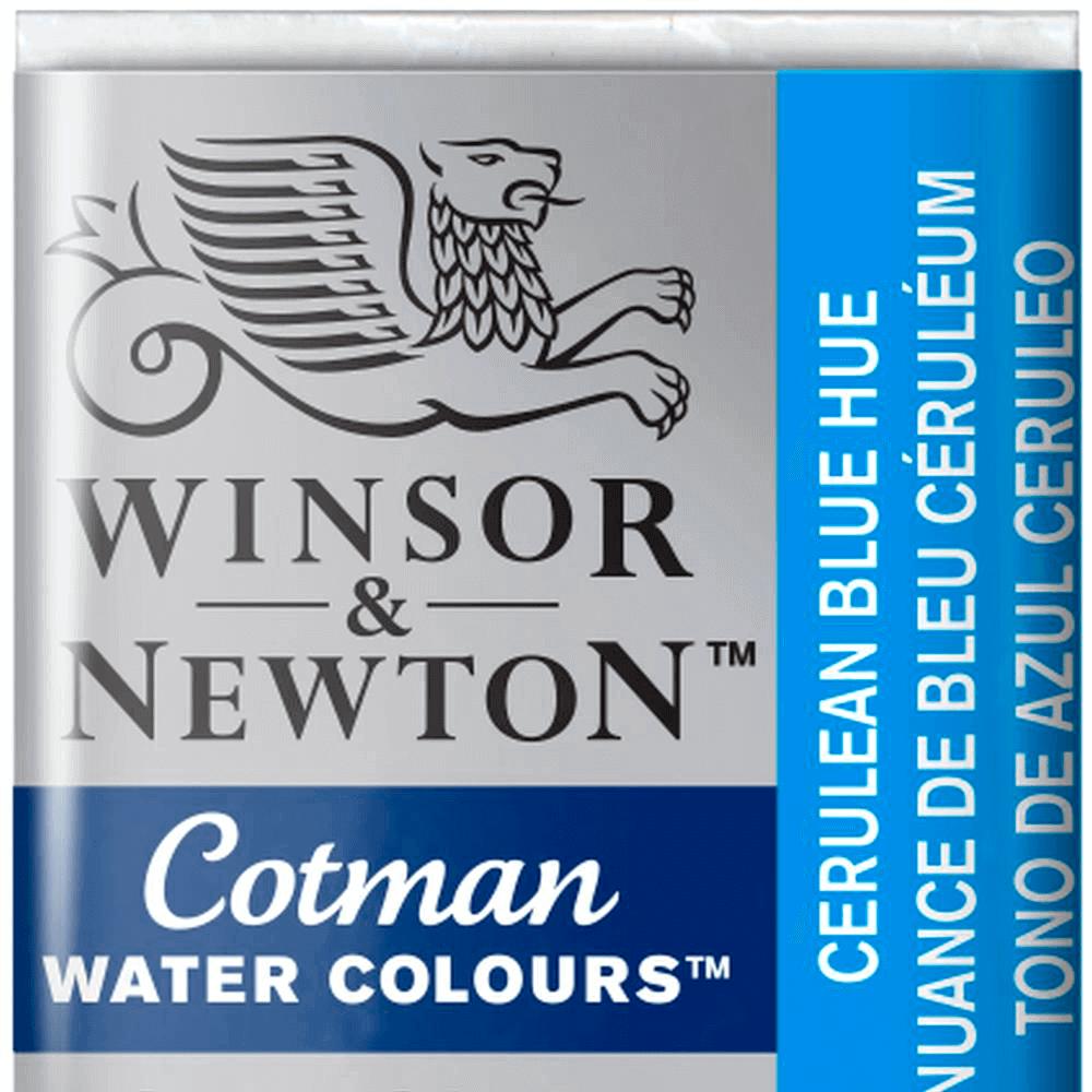 Aquarela Winsor & Newton Cotman Pastilha 139 Cerulean Blue