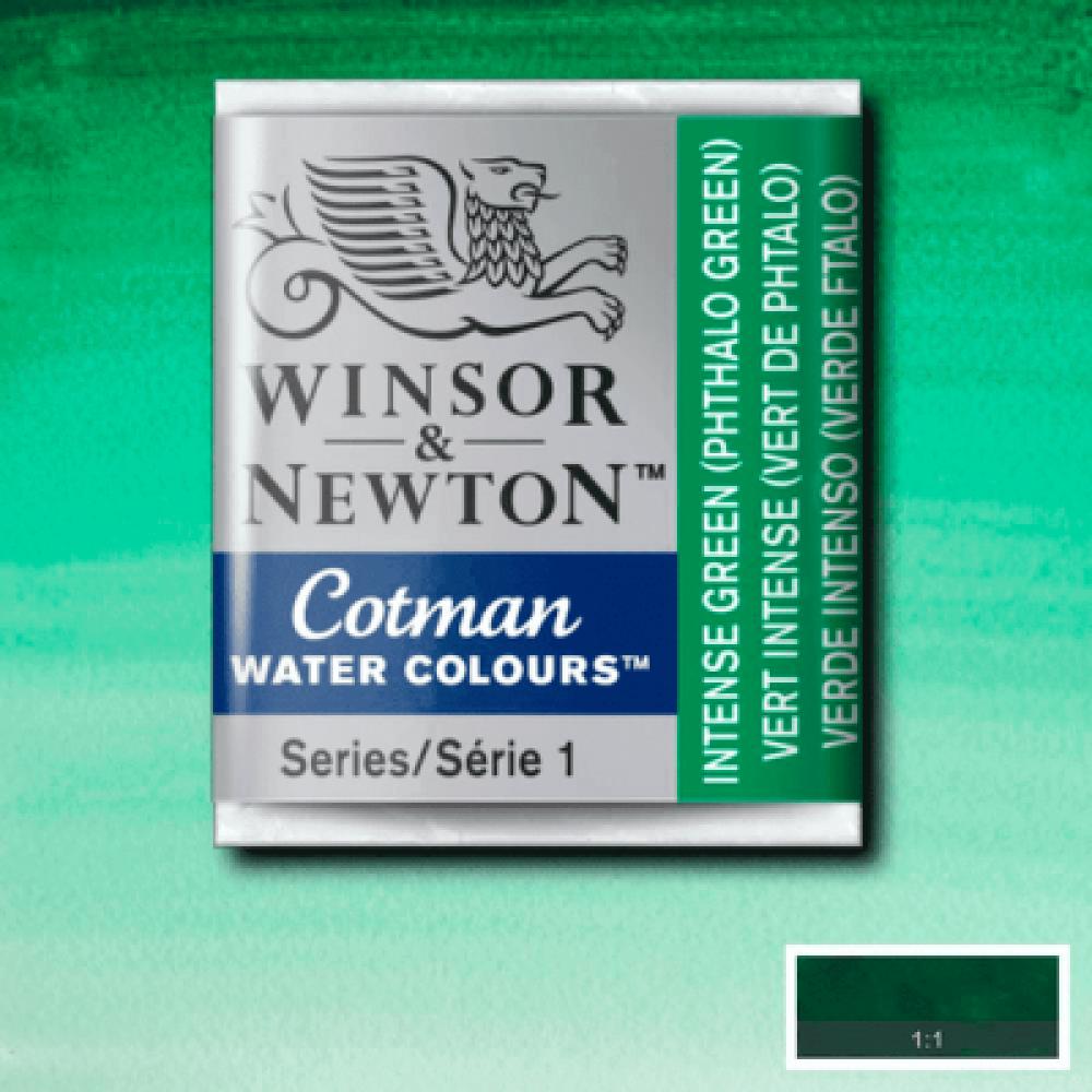 Aquarela Winsor & Newton Cotman Pastilha 329 Intense Green (Phthalo Green)