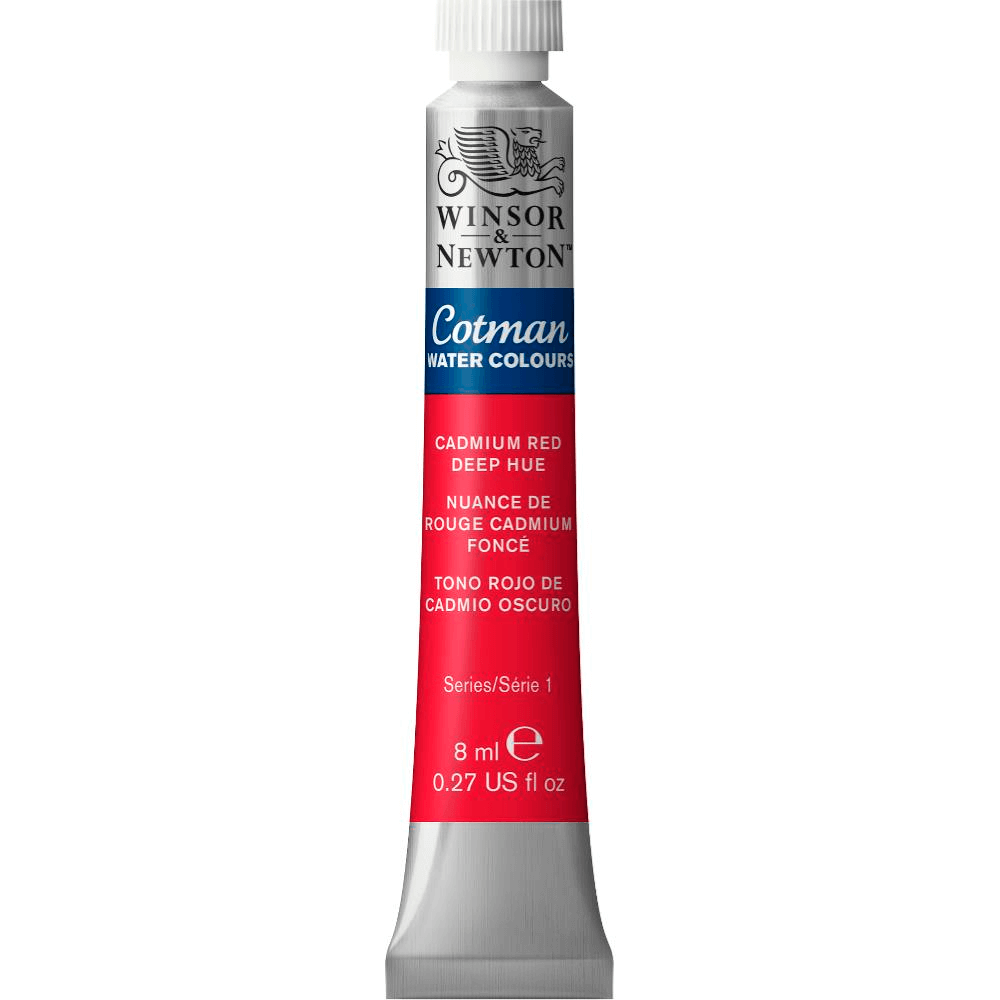Aquarela Winsor & Newton Cotman 8ml 098 Cadmium Red Deep Hue