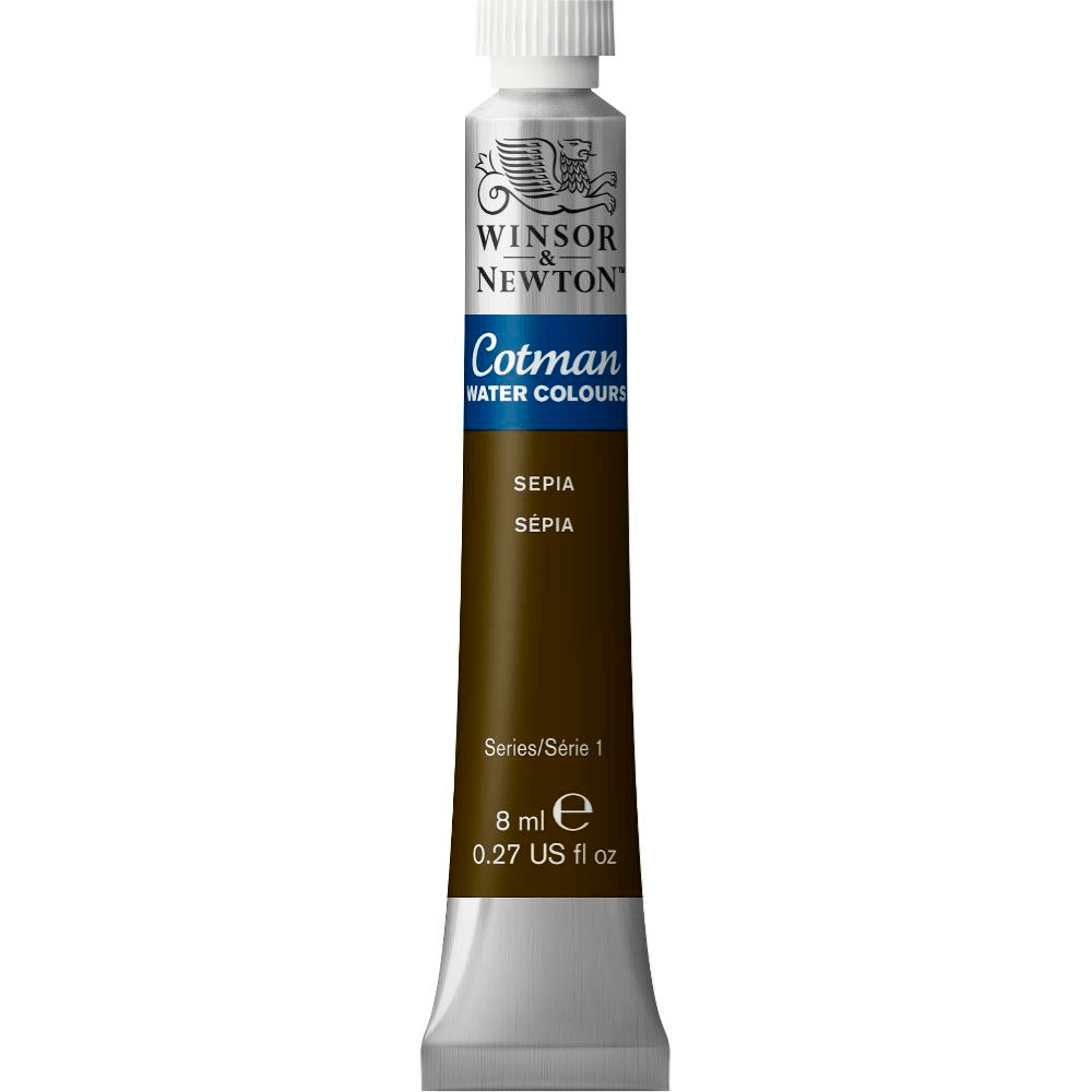 Aquarela Winsor & Newton Cotman 8ml 609 Sepia