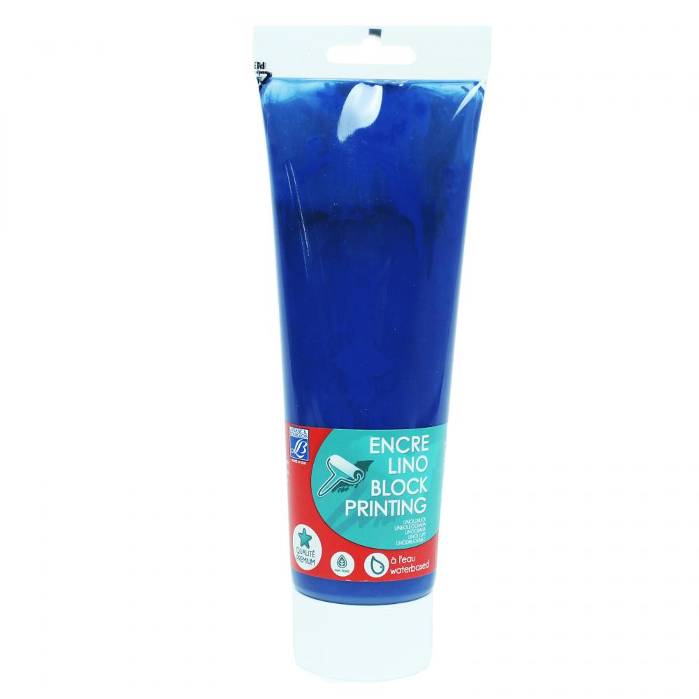 Tinta Para Linoleogravura Lefranc & Bourgeois 250ml Brilliant Blue