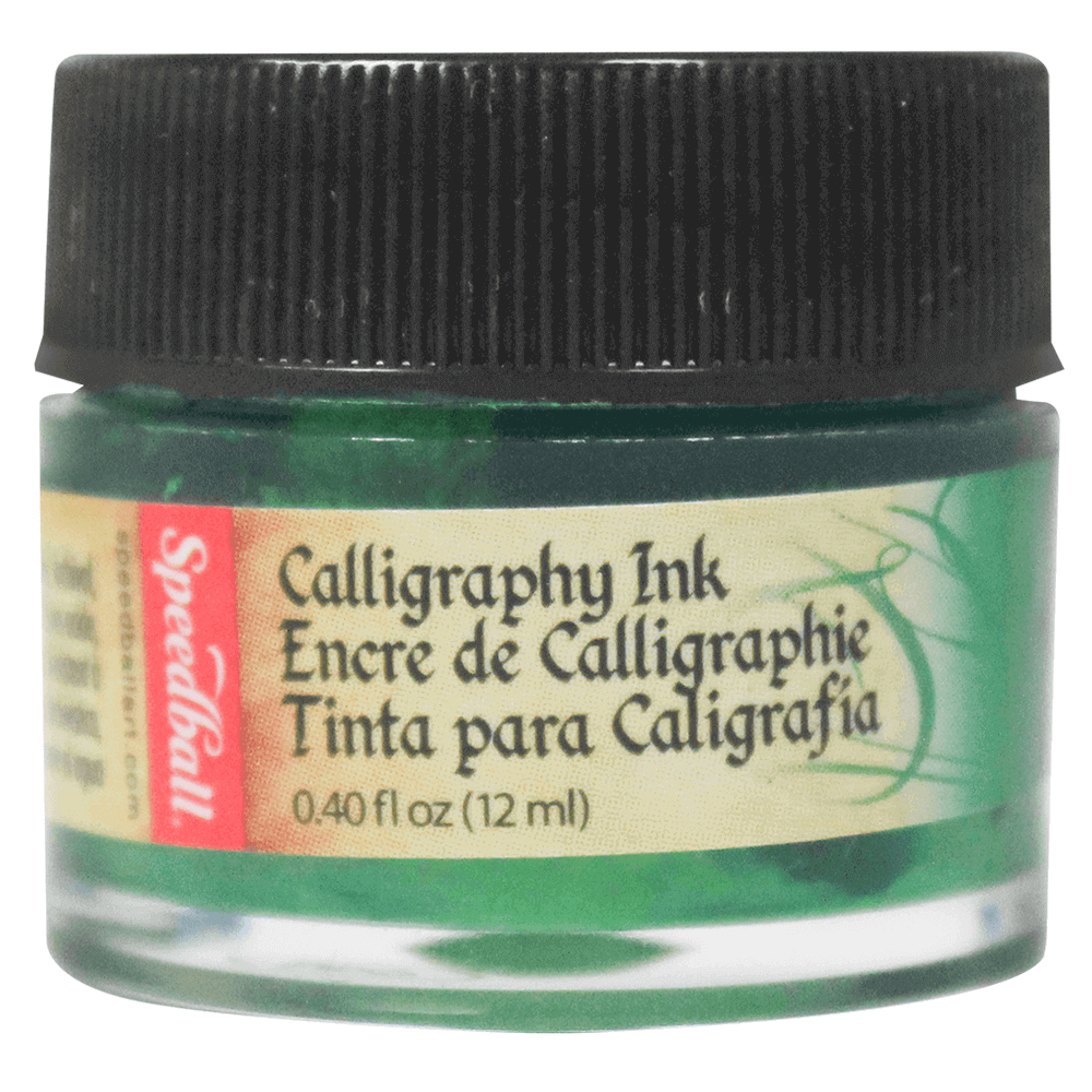Tinta Caligráfica Speedball 12ml 3103 Verde Esmeralda
