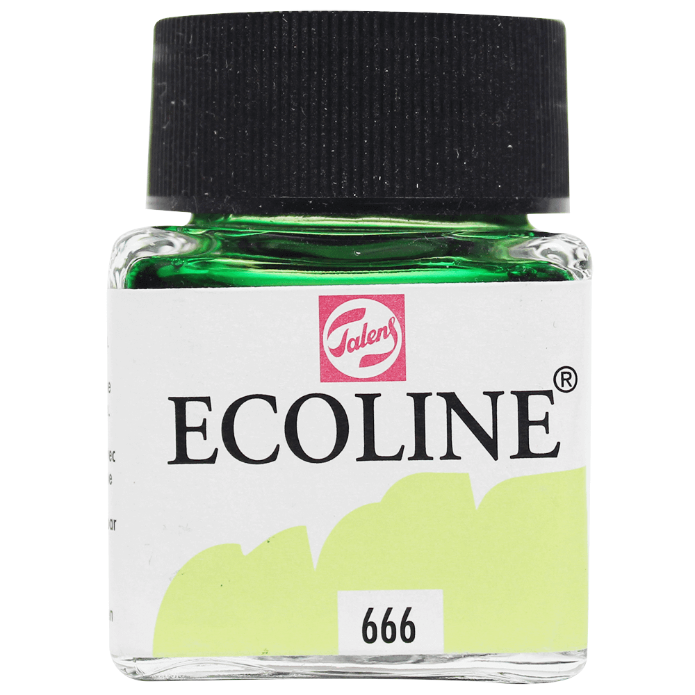 Tinta Ecoline Talens 30ml 666 Pastel Green