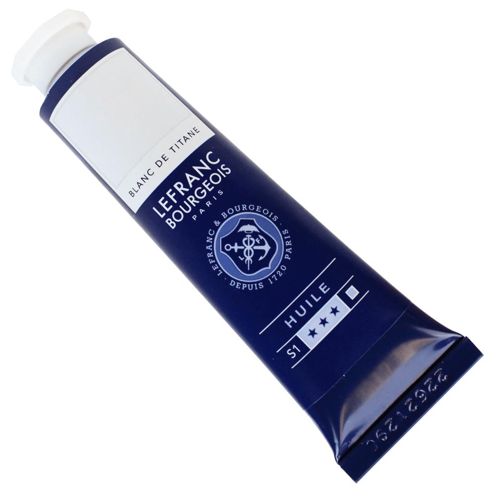 Tinta Óleo Lefranc & Bourgeois Fine 40ml 008 Branco Titânio