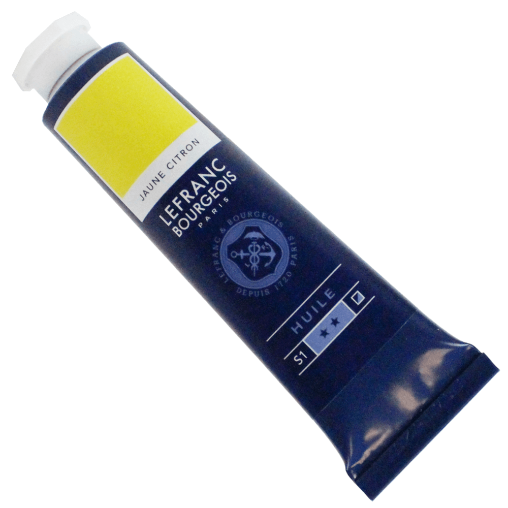 Tinta Óleo Lefranc & Bourgeois Fine 40ml 169 Amarelo Limão
