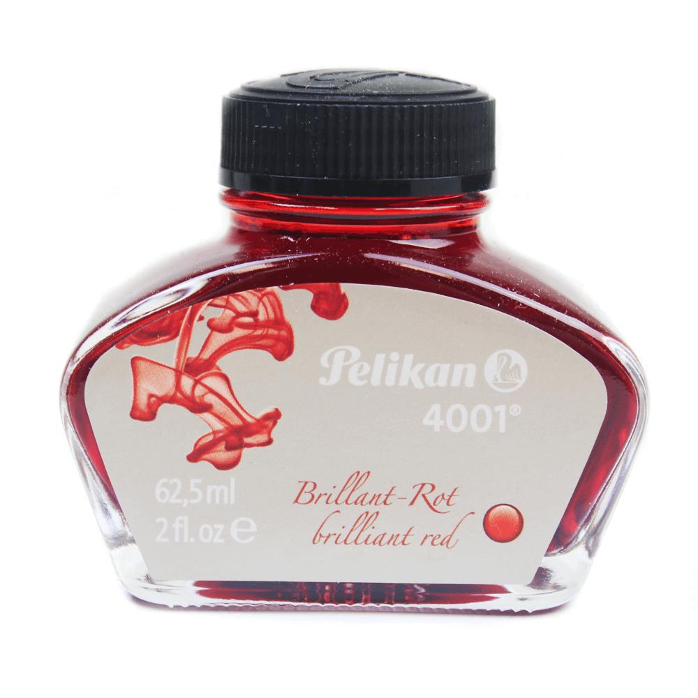 Tinta Para Caneta Pelikan 4001 Tinteiro Vermelho 62,5ml
