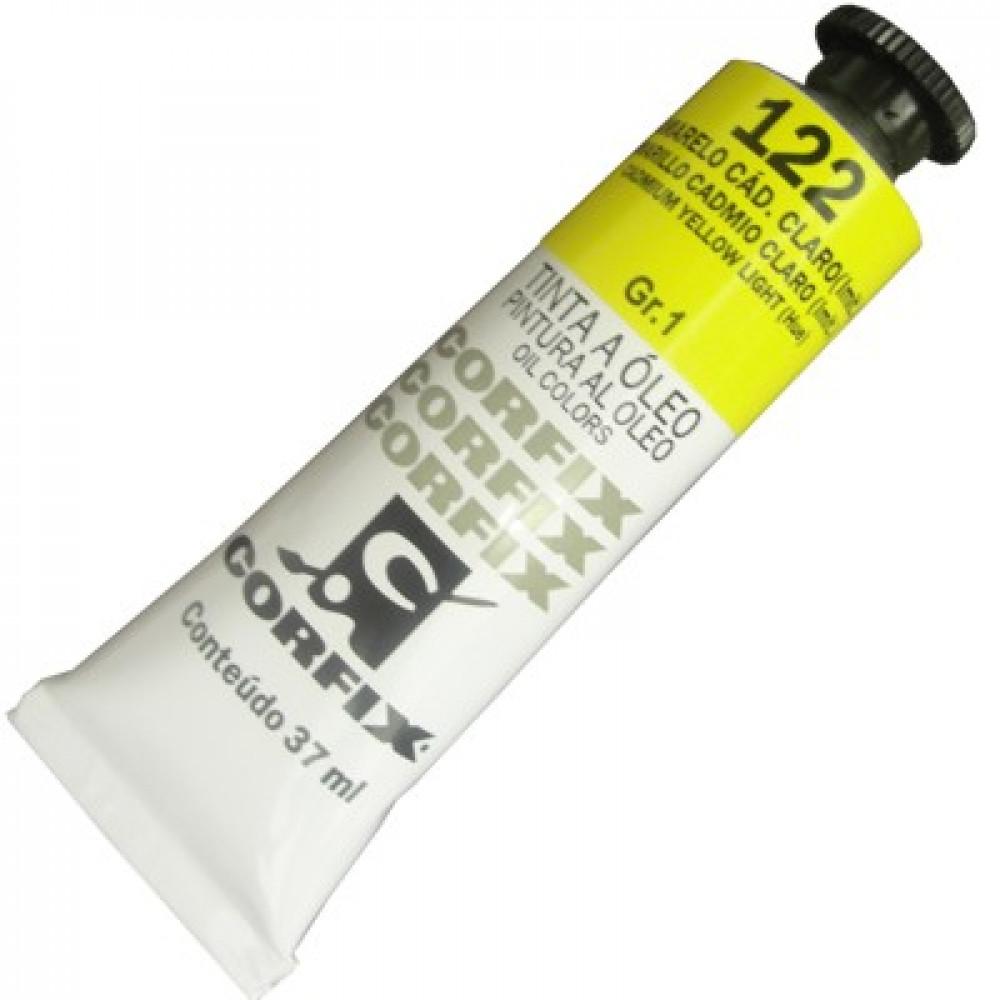 Tinta a Óleo Corfix 37ml 122 Amarelo Cád. Claro G1