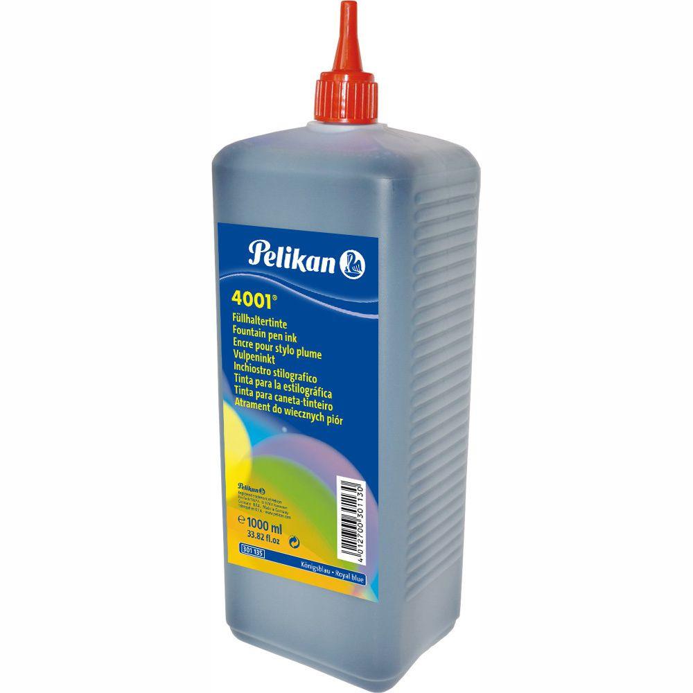 Tinta Para Caneta Tinteiro Pelikan 4001 1 Litro Azul Royal