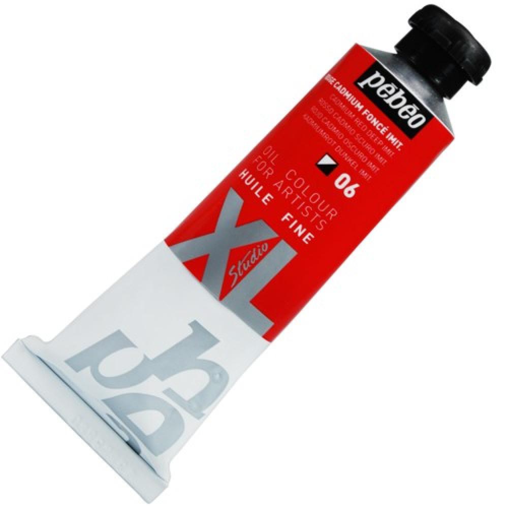 Tinta Óleo Pébéo XL 37ml 06 Vermelho Cadmio Escuro