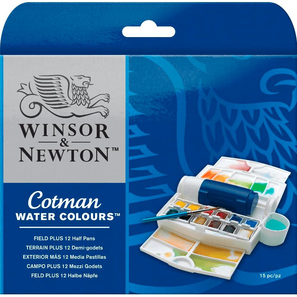 Aquarela Winsor & Newton Cotman 12 Cores Field Plus