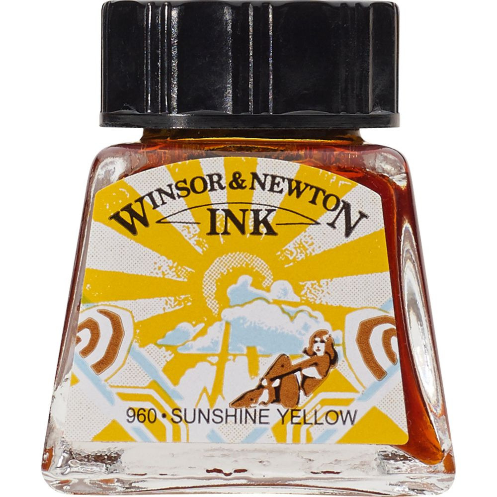 Tinta para Desenho Winsor & Newton 14ml Sunshine Yellow
