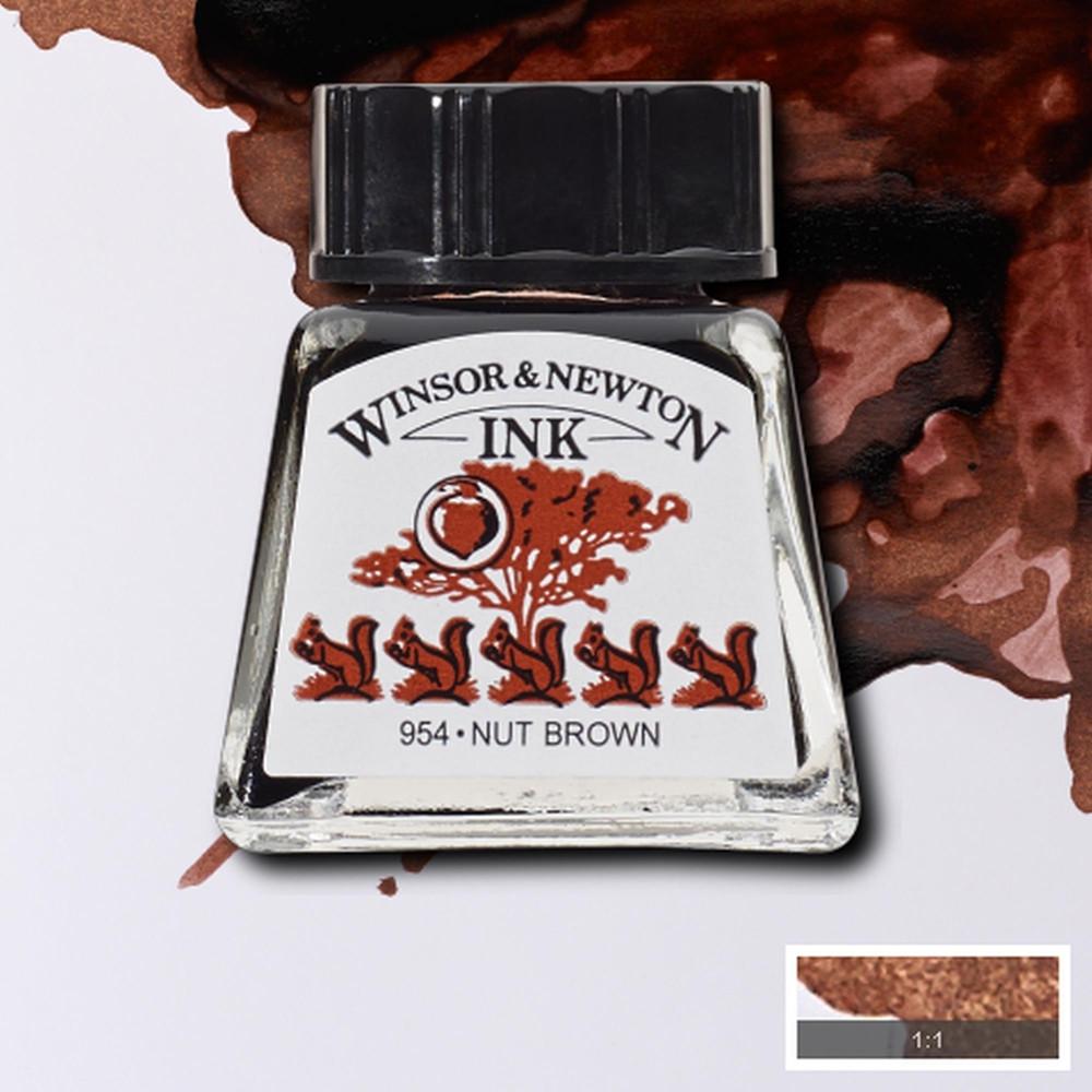 Tinta para Desenho Winsor & Newton 14ml Nut Brown 441 Tinta para Desenho Winsor & Newton 14ml Nut Brown 441 Tinta para Desenho Winsor & Newton 14ml Nut Brown