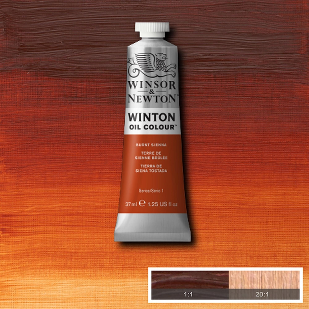 Tinta Óleo Winsor & Newton Winton 37ml 074 Burnt Sienna