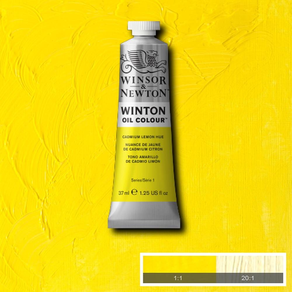 Tinta Óleo Winsor & Newton Winton 37ml  346 Lemon Yellow Hue
