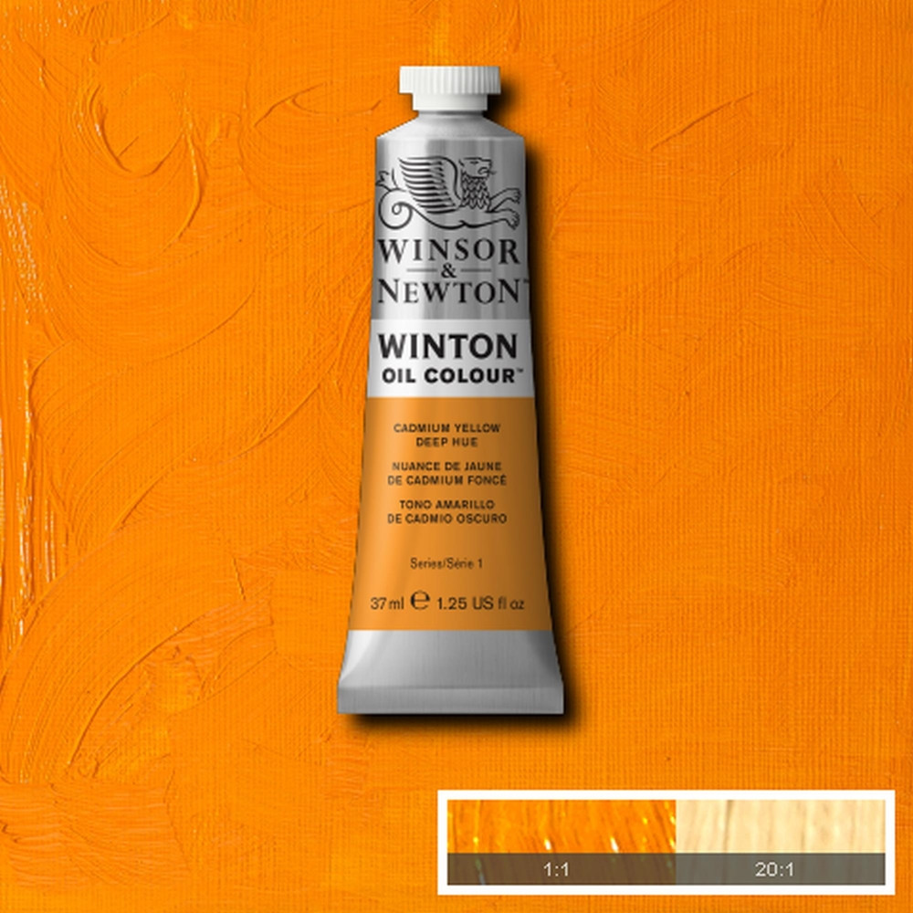 Tinta Óleo Winsor & Newton Winton 37ml 115 Cadmium Yellow Deep Hue