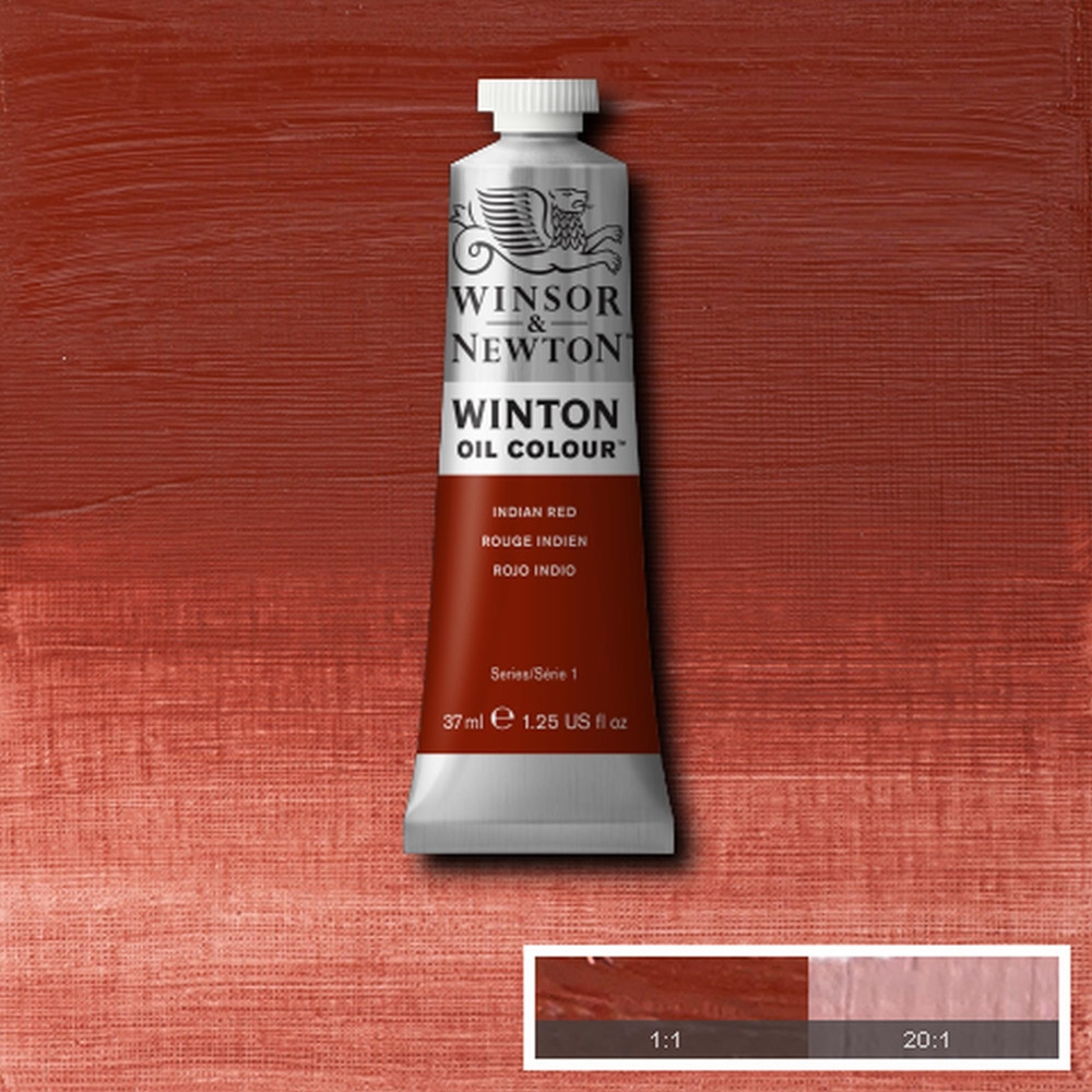 Tinta Óleo Winsor & Newton Winton 37ml 317 Indian Red