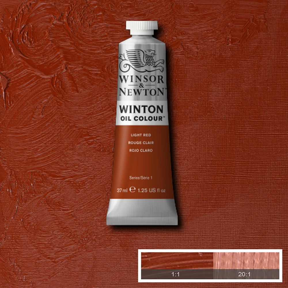 Tinta Óleo Winsor & Newton Winton 37ml  362 Light Red
