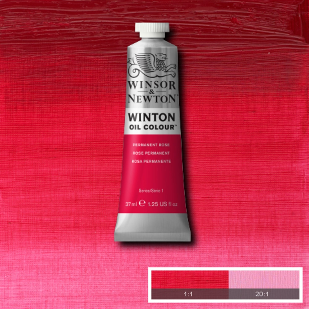 Tinta Óleo Winsor & Newton Winton 37ml  502 Permanent Rose